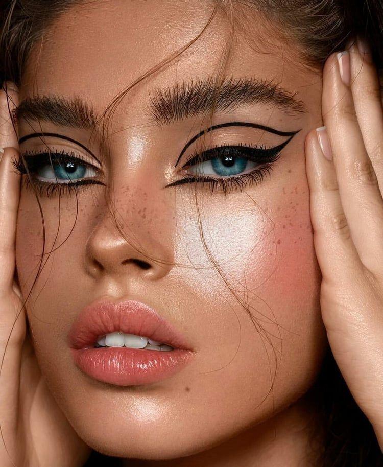 Beauty makeup model Foundonweheartit weheartit