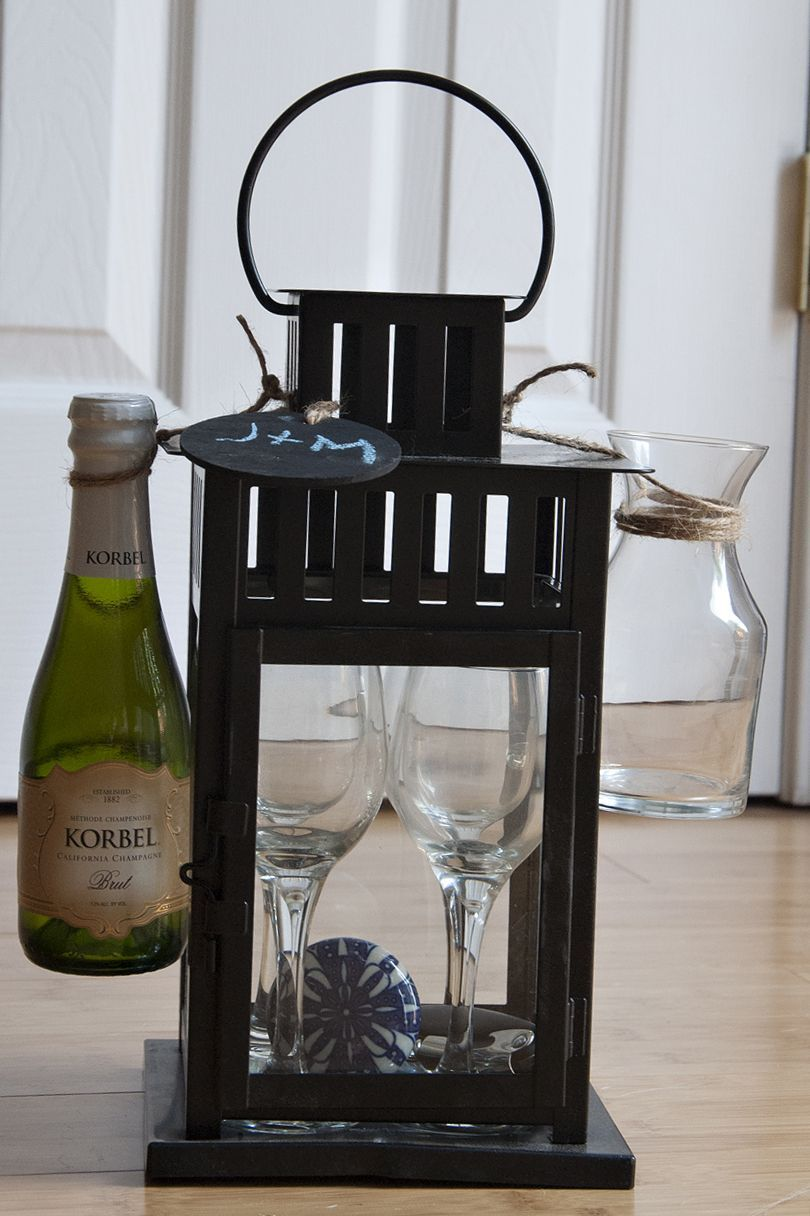 Great Housewarming Gift Lantern From Ikea Small Wine Glasses And Decanter From Pier One In 2020 Lantern Gift Great Housewarming Gifts House Warming Gifts
