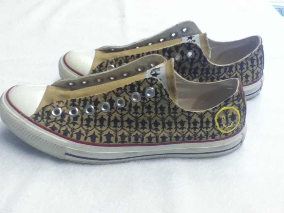 68c6f00220334 Sherlock inspired Converse All Stars | I am Sherlocked, and so are ...
