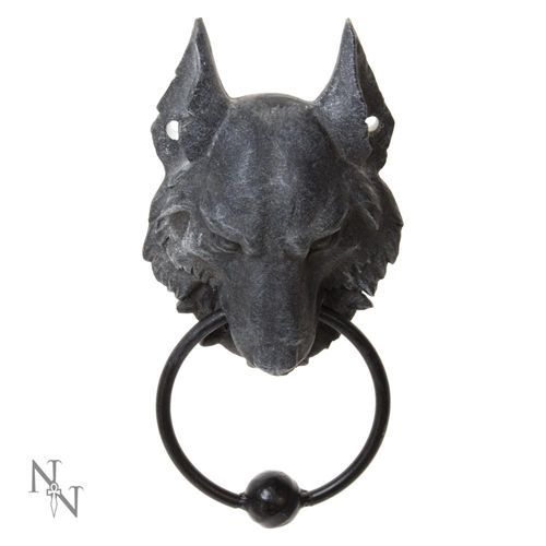 Wild, wolven kop deurklopper zwart – Fantasy – Nemesis Now