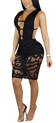 Jmwss QD Womens Long Sleeve Sheer Floral Lace Bodycon Sequin Jumpsuit Pants Black Small