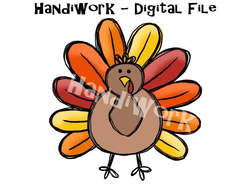 Cute turkey PNG File Watercolor turkey Turkey Sublimation | Etsy