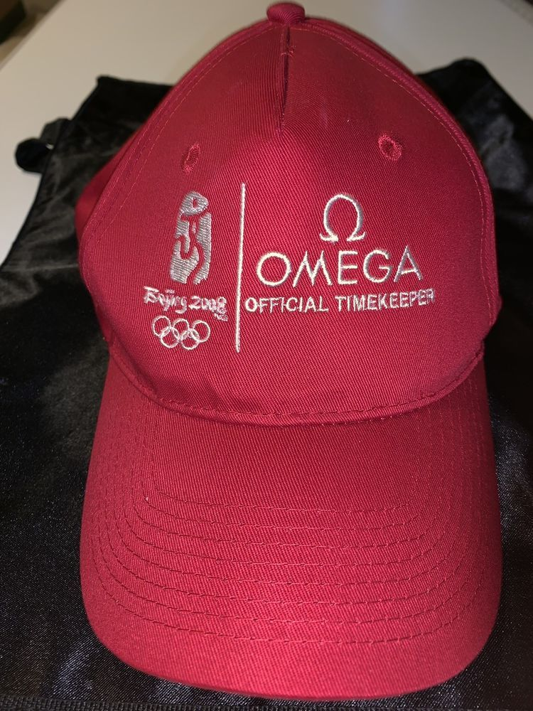 9156cd7866dc1 OMEGA WATCH RED HAT 2008 BEJING OLYMPIC HAT  fashion  clothing  shoes   accessories