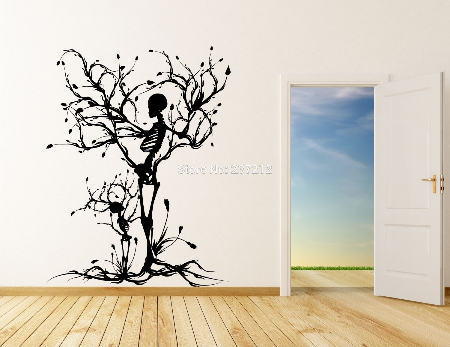 Conceptual Tree Vinyl Wall Art / Stickers Decals Skull Tree Halloween Wall  Stickers Transfers
