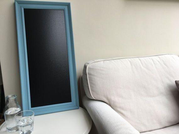 SALE // Blue-framed black board // Kitchen or office framed notice ...
