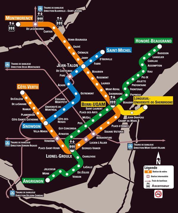 montreal metro MONTREAL Pinterest