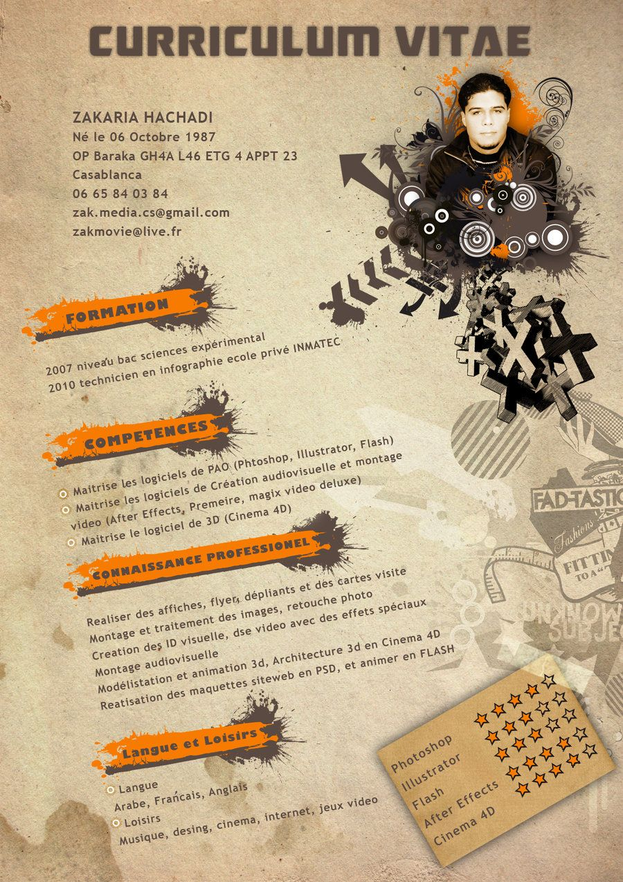 Mon Cv By Zakdeejay On Deviantart Deviantart Projects To Try Projects