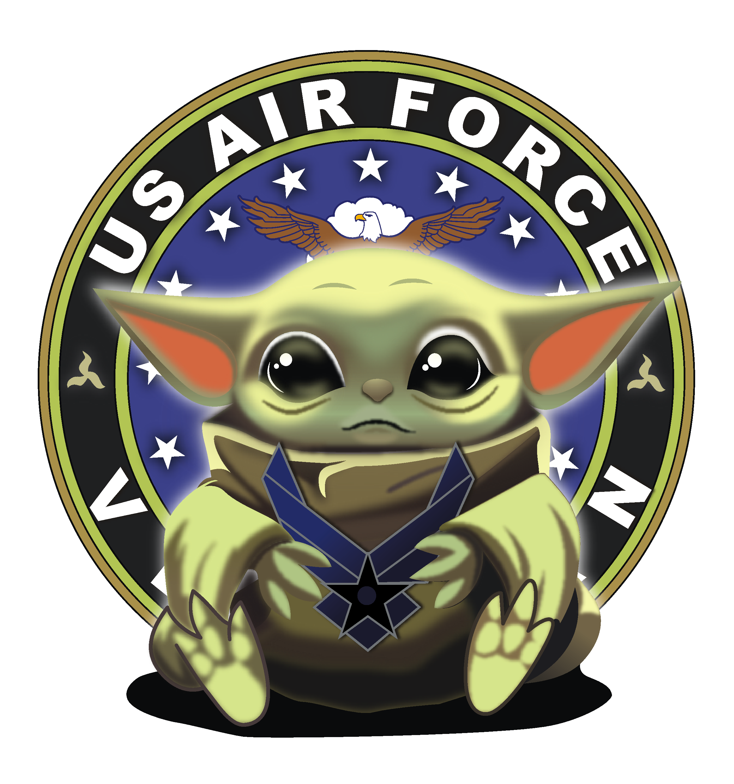 Baby Yoda Air Force Army Marine Corp Navy United States American Merica Red White And Blue Support Our Troops Png Yoda Wallpaper Star Wars Coloring Sheet Star Wars Sewing
