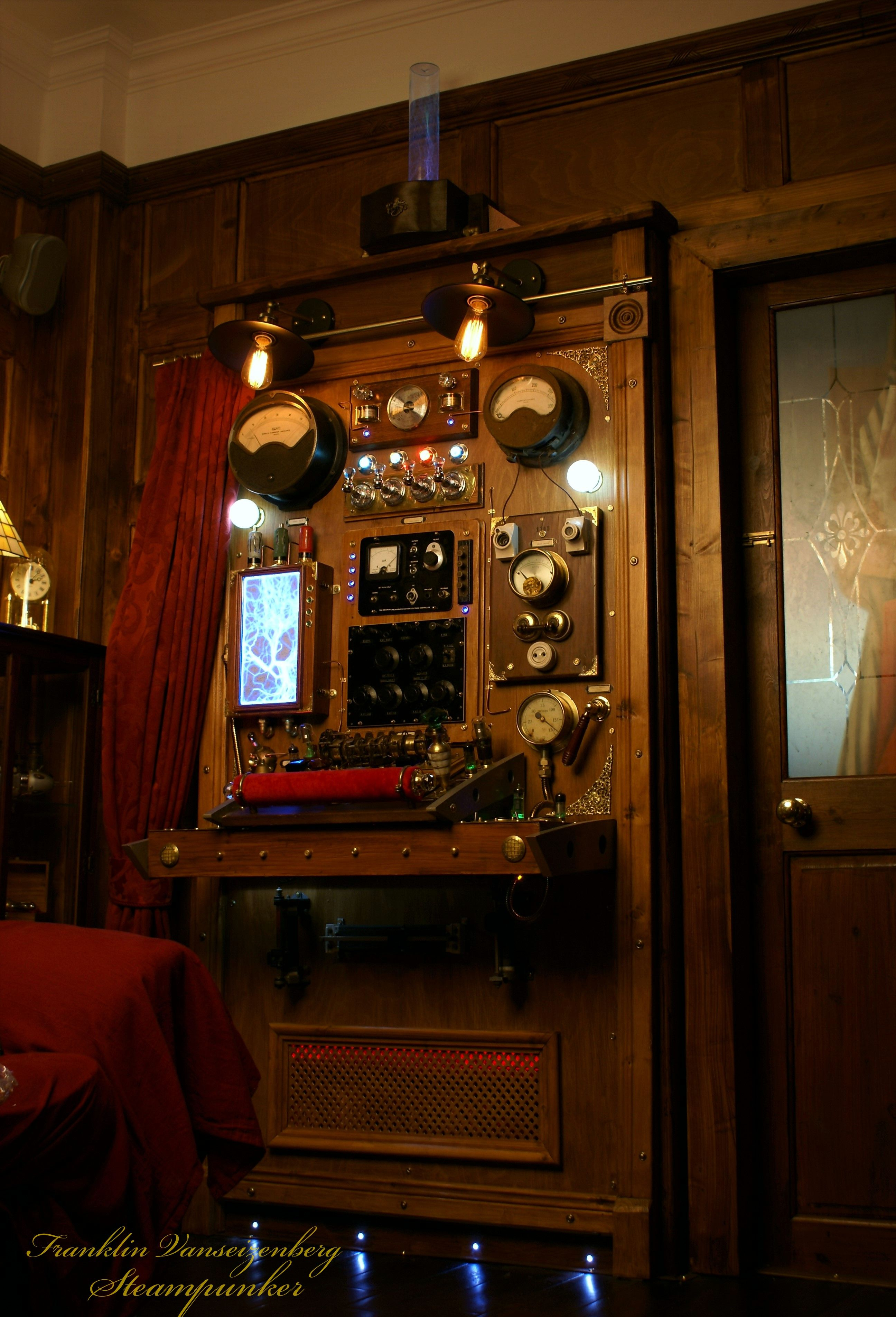 Steampunk Time Machine Control Panel Steampunk Bedroom