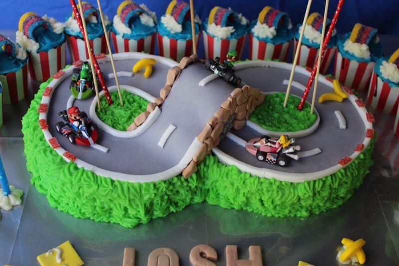 Mario Kart Cake With Images Mario Kart Cake Birthday Cake