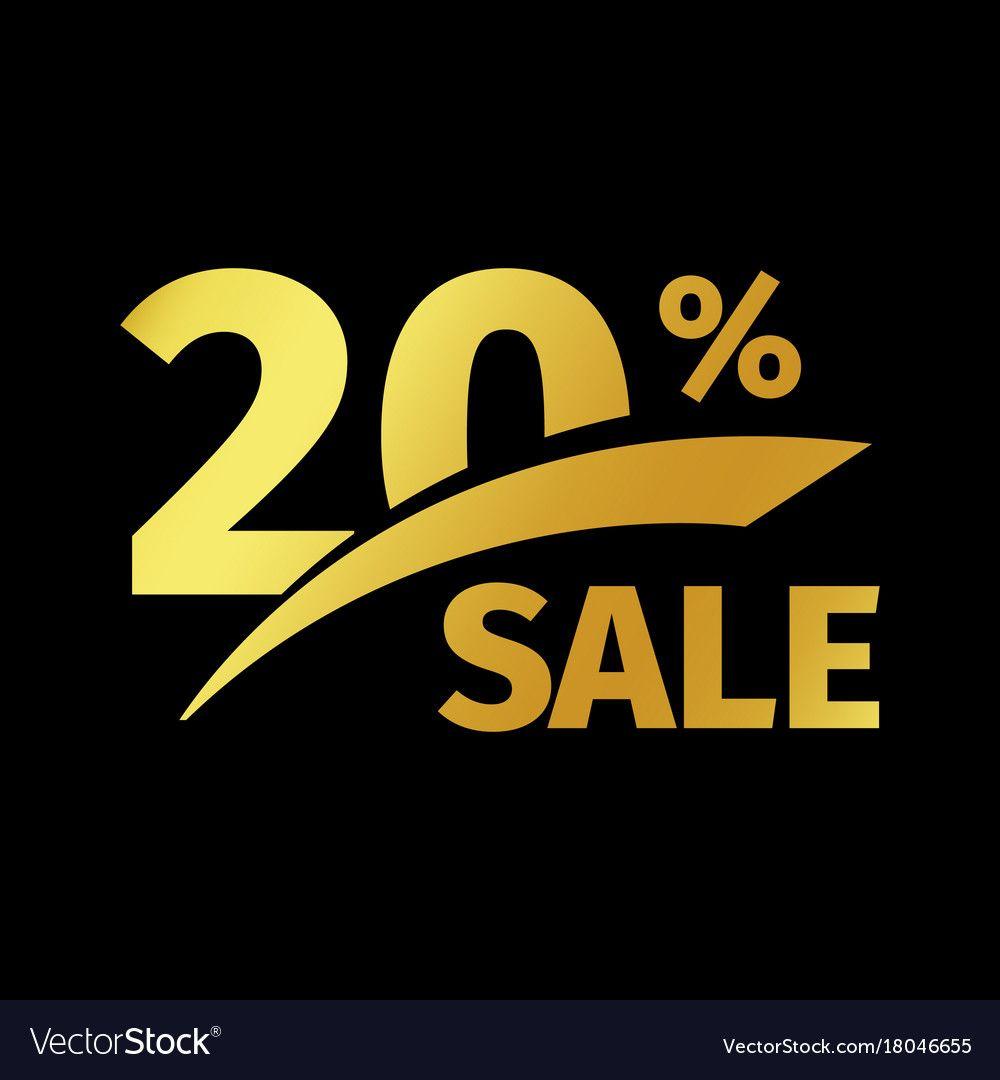 Black Banner Discount Purchase 20 Percent Sale Vector Image Ad Discount Purchase Black Banner Ad Abstract Logo Waves Icon Logo Set