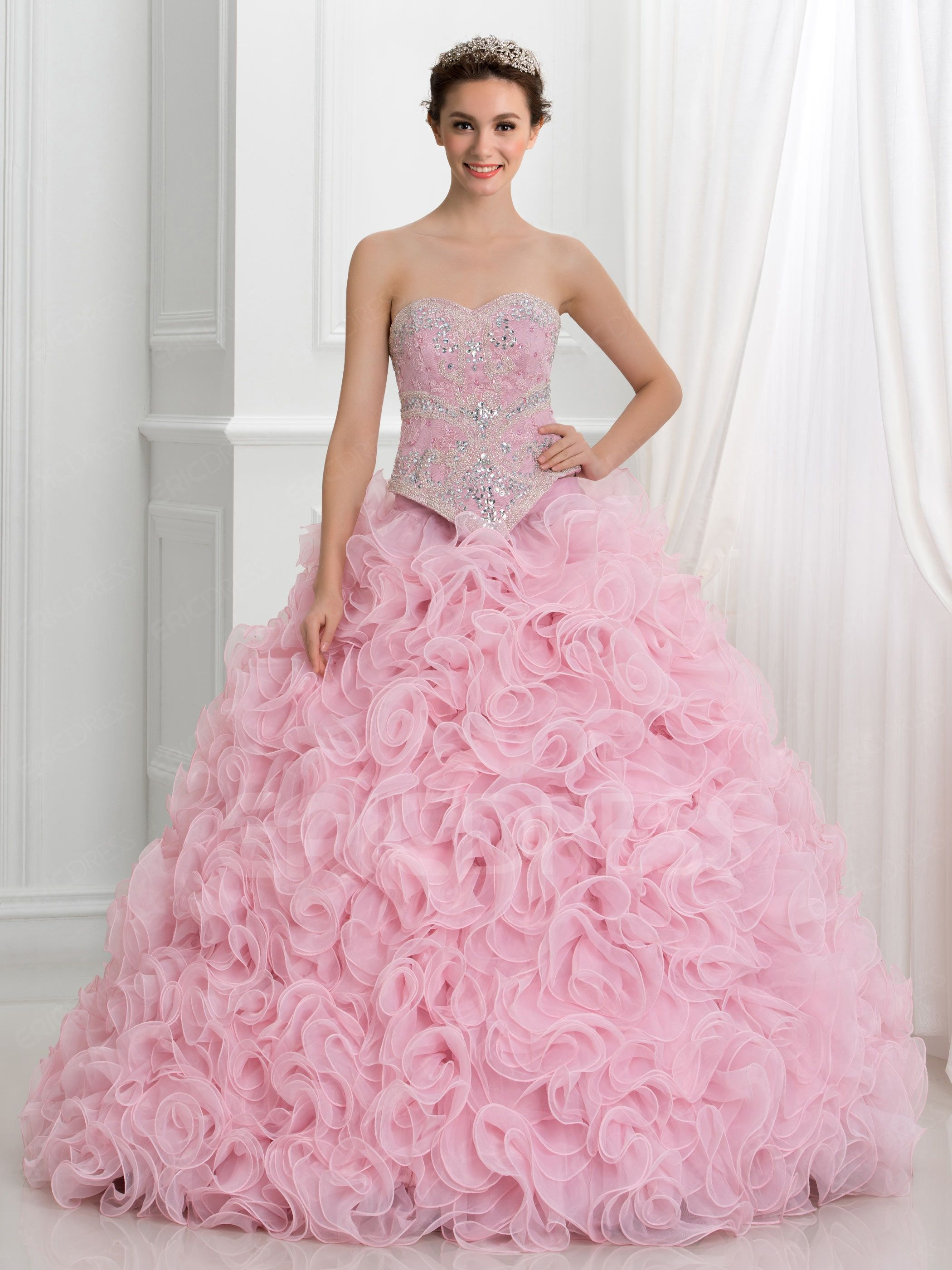 e828a097e4 ericdress.com offers high quality Ericdress Sweetheart Beading Cascading  Ruffles Lace Quinceanera Dress Quinceanera Dresses unit price of   296.99.