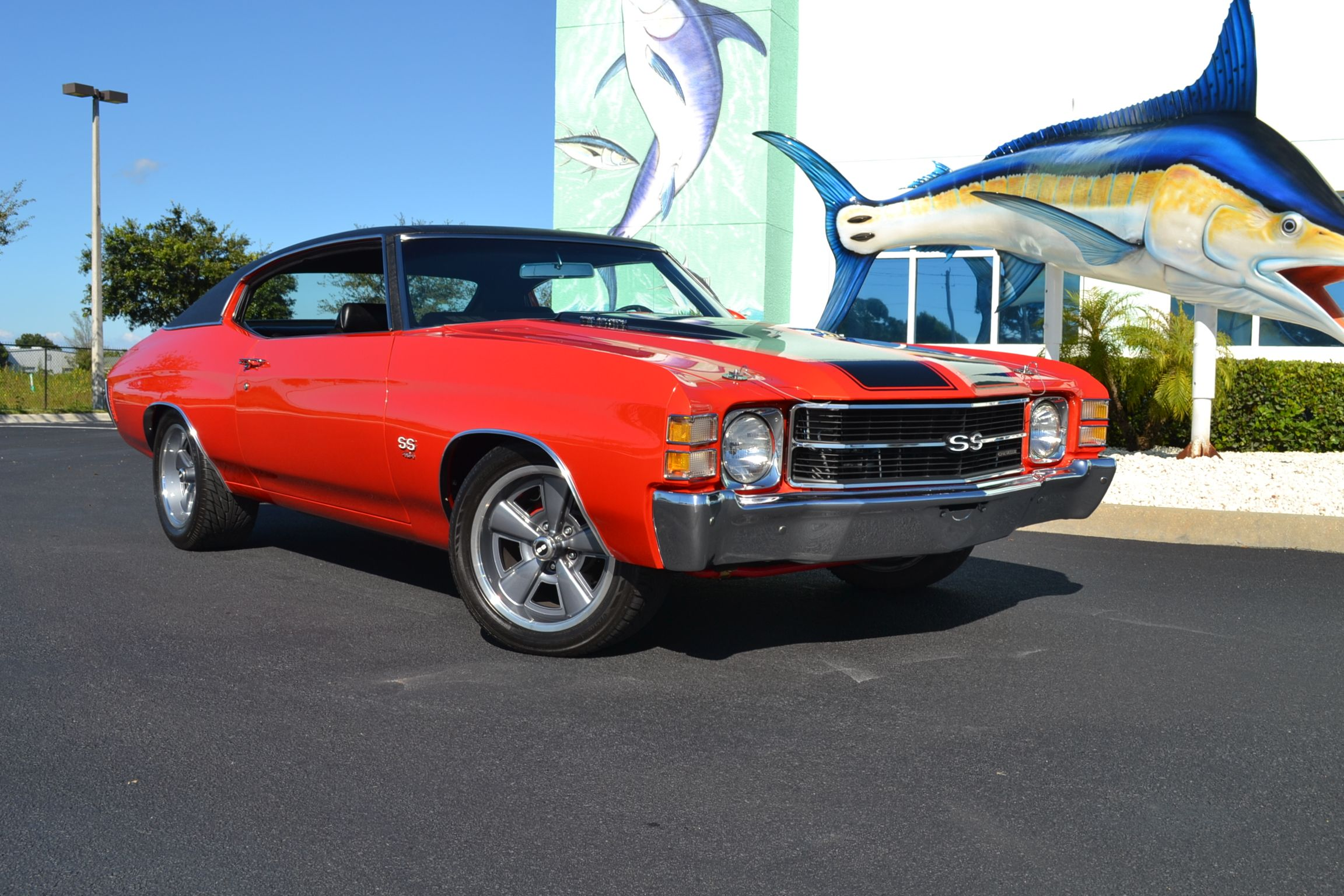 1971 Chevelle SS 454 fully restored Inferno Orange Metallic