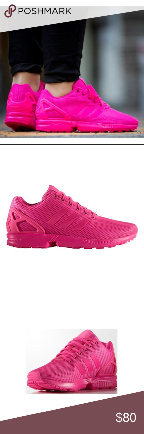 purchase cheap 64abe 8834c Adidas Originals ZX Flux Shock Pink DS Size 10 New With Out ...