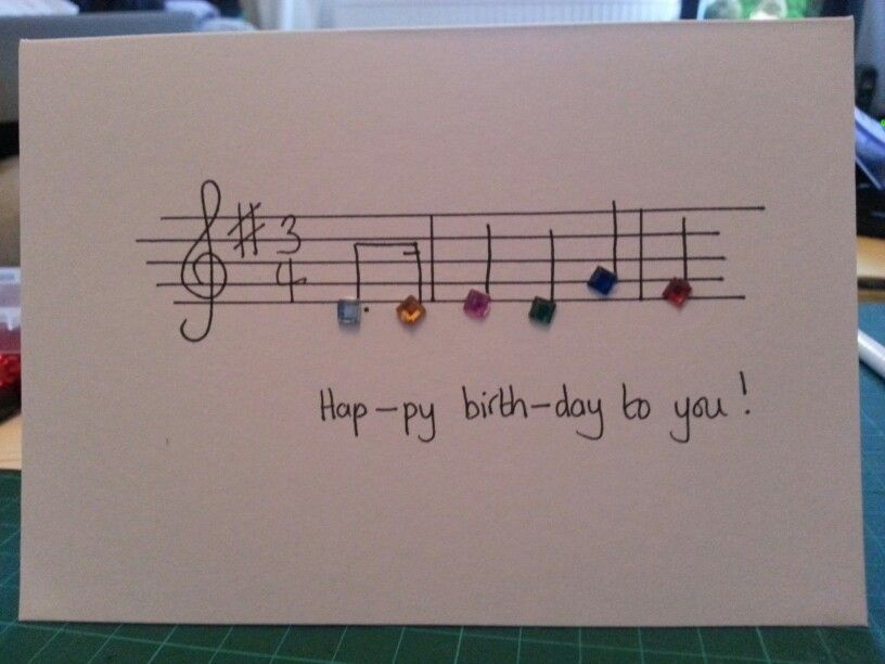 Home made happy birthday music card birthday card making home made happy birthday music card bookmarktalkfo Images