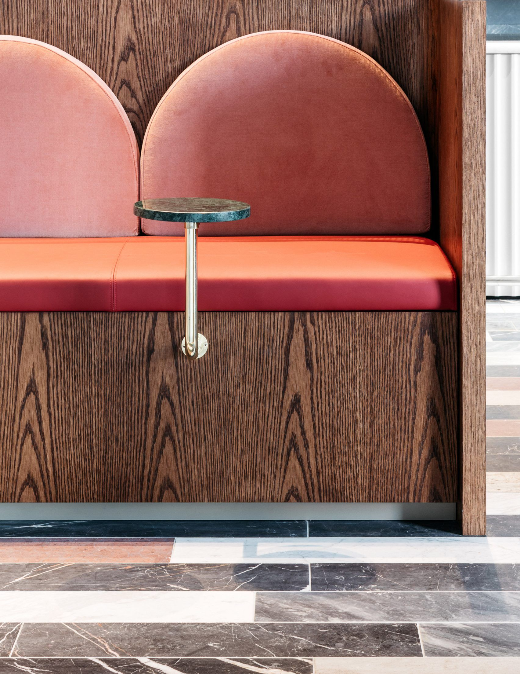 Treasuries Inspire State Tate S Cafe For Commonwealth Bank Of Australia Restaurant Interior Cafe Seating Banquette Seating