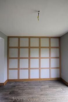 Give your room a whole new with this fabulous budget friendly wall panneling project. Your walls will pull the room together and give your home a much needed updated look. #diy #diyhomedecor #walls #statementwall #panneling