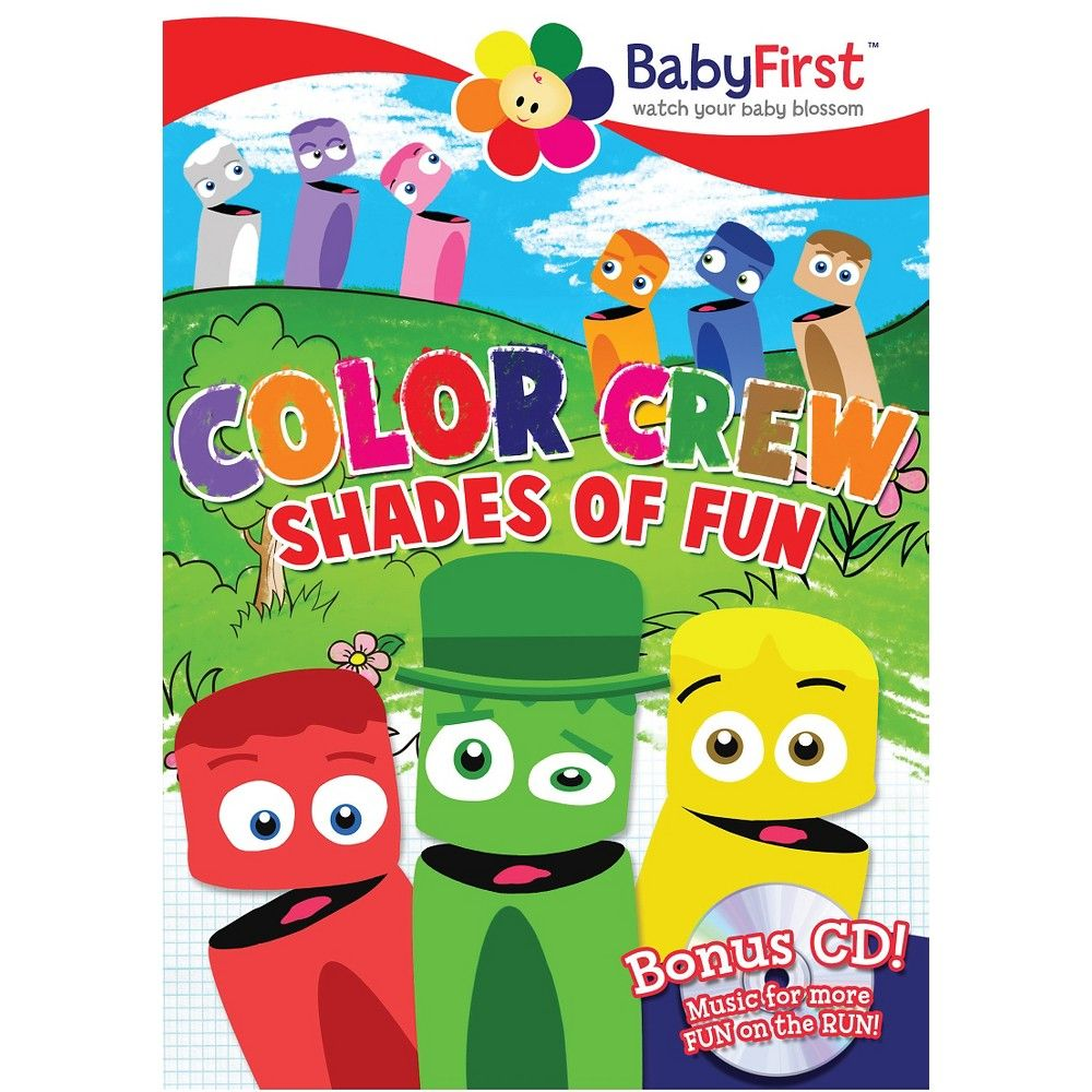 BabyFirst Color Crew Shades Of Fun CDDvd dvdvideo