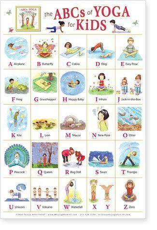 alphabet yoga poses  yoga for kids kids yoga poses