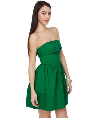 irish green dress strapless