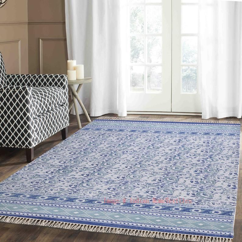 Rugs 4x6 Feet Cotton Handmade Rug Carpet Area Rug Floor Rug Office Rug Rustic Rug New Handblock Printed Rug Large Rug In 2020 Carpets Area Rugs Rugs On Carpet Floor Rugs