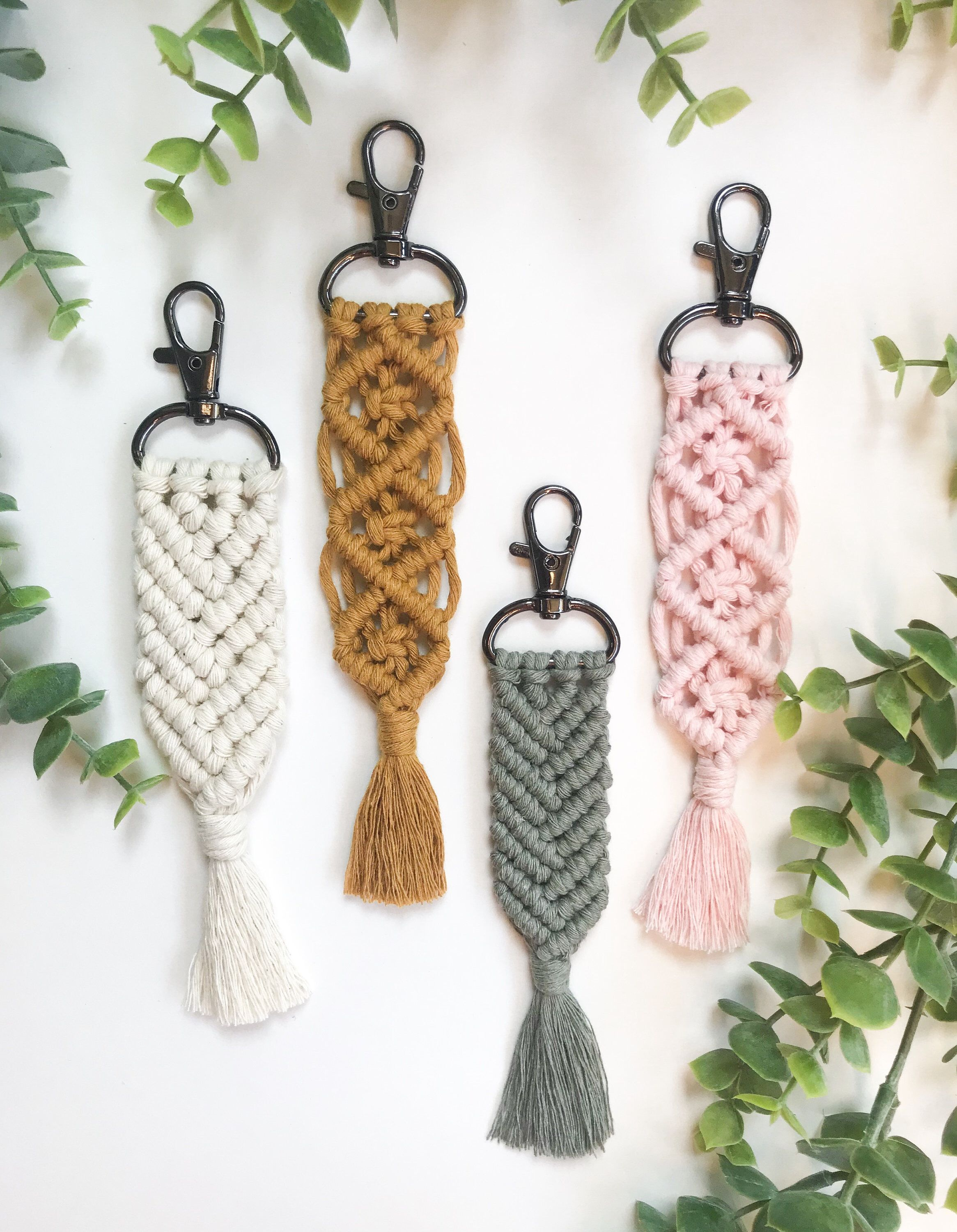 Excited to share this item from my #etsy shop: Macrame Keychains