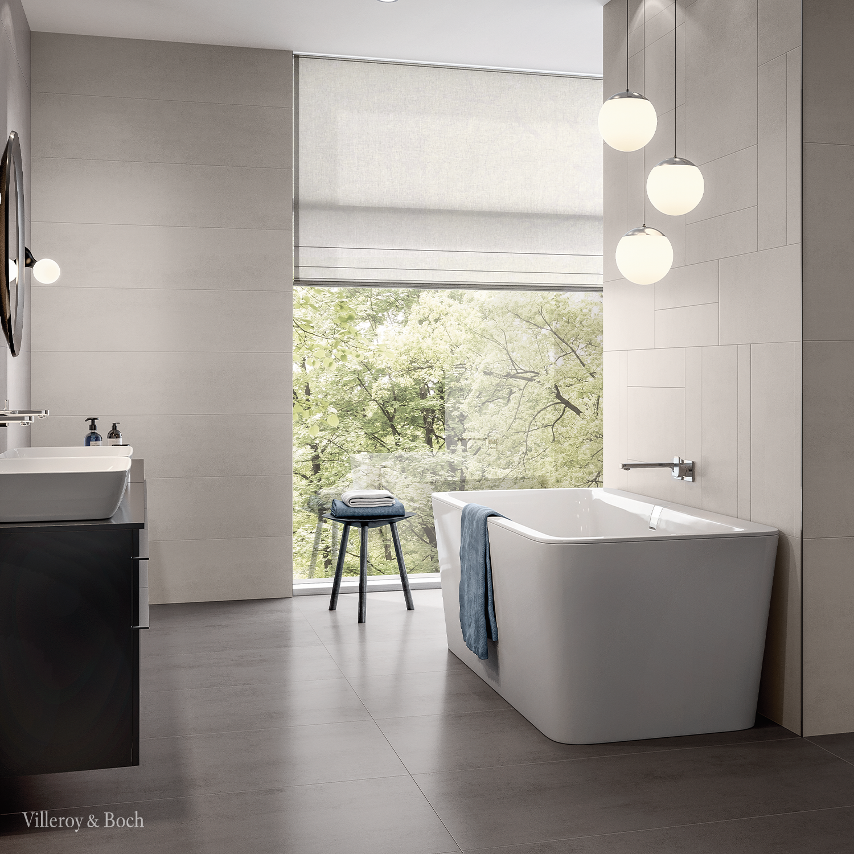Squaro Freestanding Bath Villeroy Boch In 2020 Minimalistische Badgestaltung Badezimmereinrichtung Badewanne