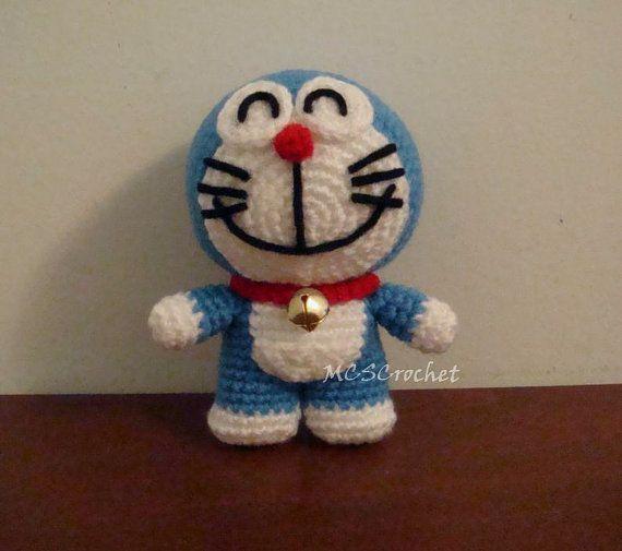 Doraemon amigurumi poupée crochet poupée poupée de par MCSCrochet