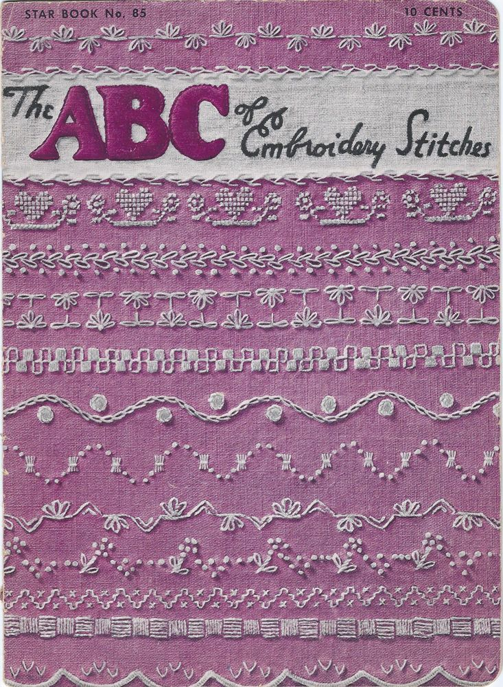 The ABC Of Embroidery Stitches 1951