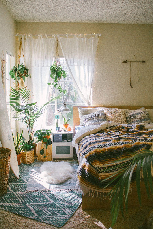 Urban Jungle | Bedroom decor on a budget, Bedroom design ... on Bohemian Bedroom Ideas On A Budget  id=56266