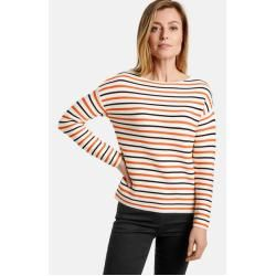 Photo of Gerry Weber Pullover mit modischem Ringel Rot/Orange/Ecru/Weiss Ringel Damen Gerry Weber