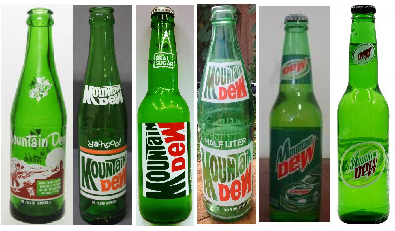 Glass Mountain Dew bottles | Mountain dew bottle, Mountain