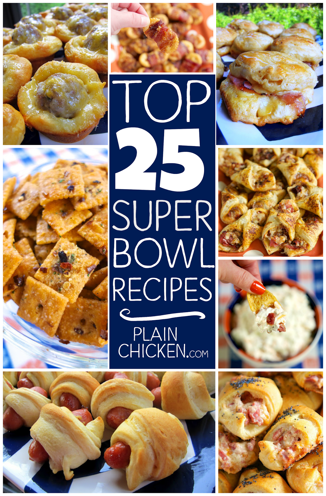 Top 25 Super Bowl Recipes - the best recipes for your Super Bowl party! All recipes are guaranteed to be a hit! Everyone will rave about them!! #tailgatefood