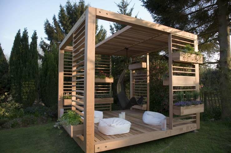 7 Pérgolas de madera fáciles de construir en el patio Garden