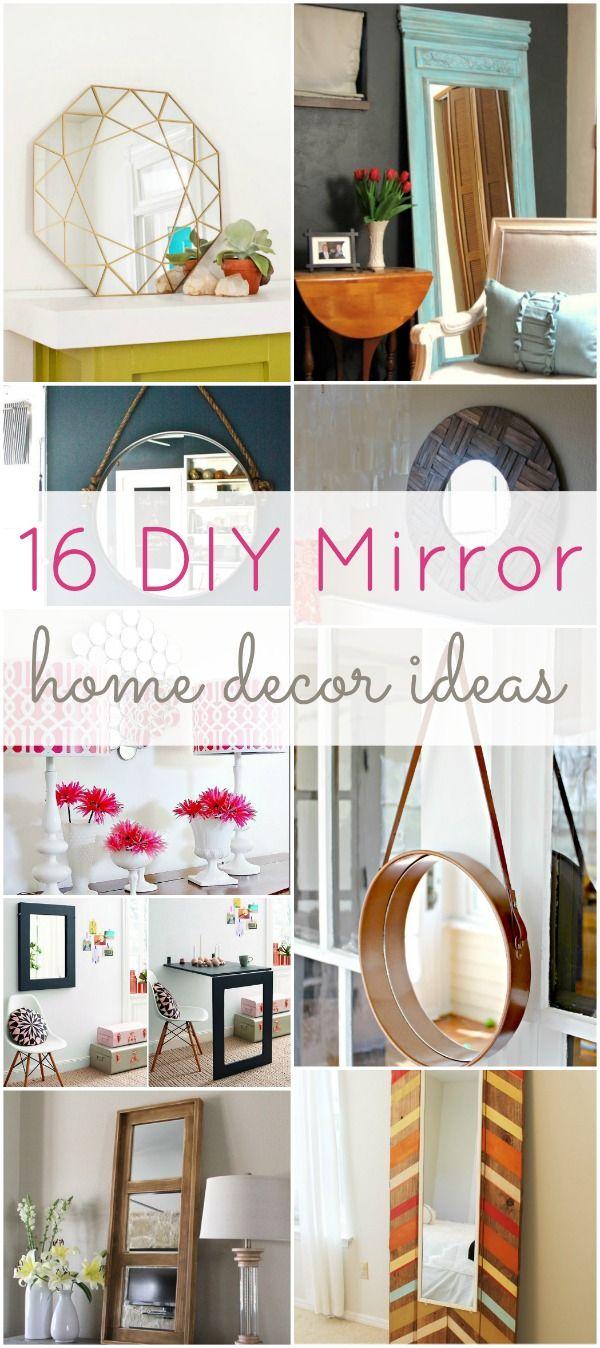 16 DIY Mirror Home Decor Ideas | Diy mirror, Check and Room