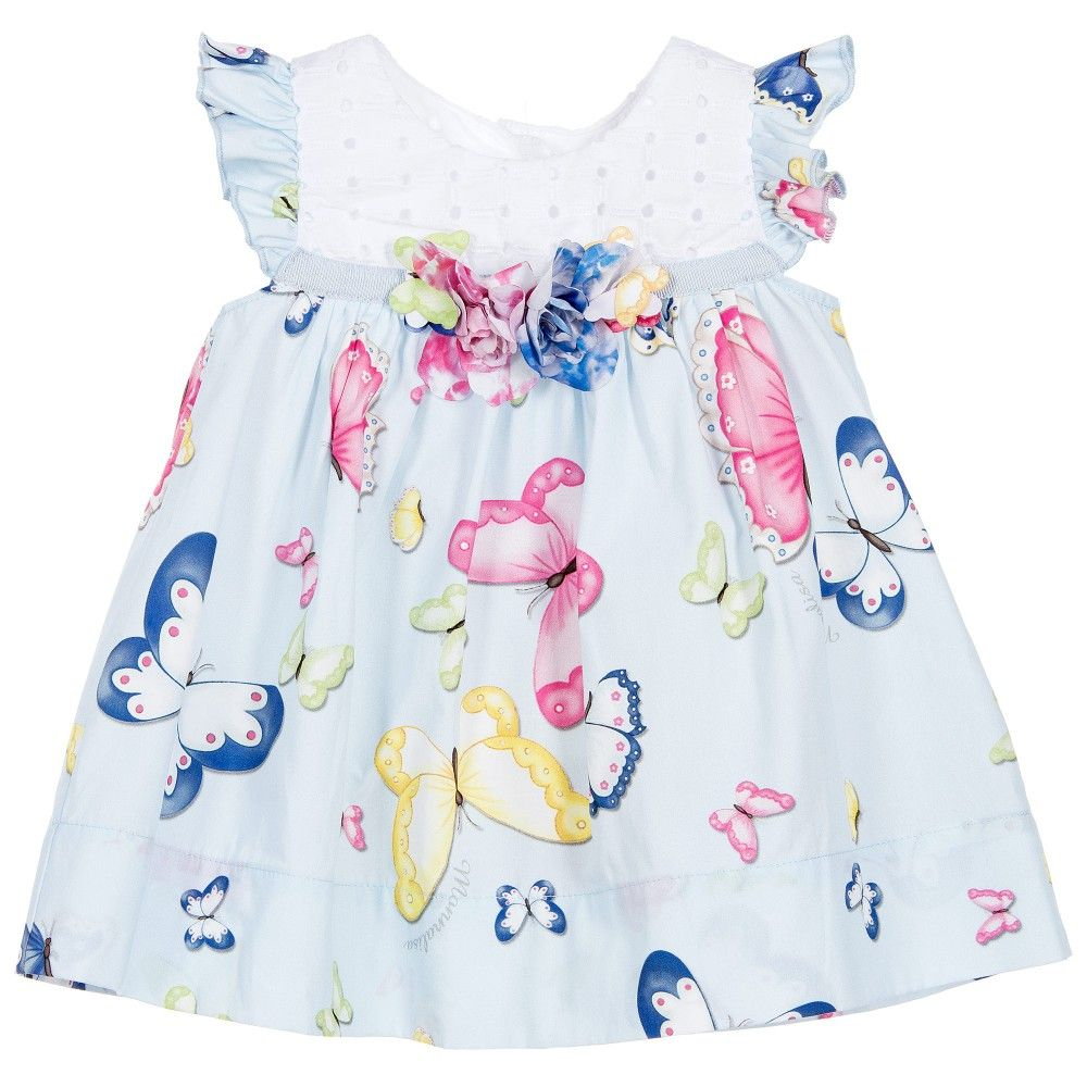 21961b8e0 Baby Girls Blue 2 Piece Dress Set