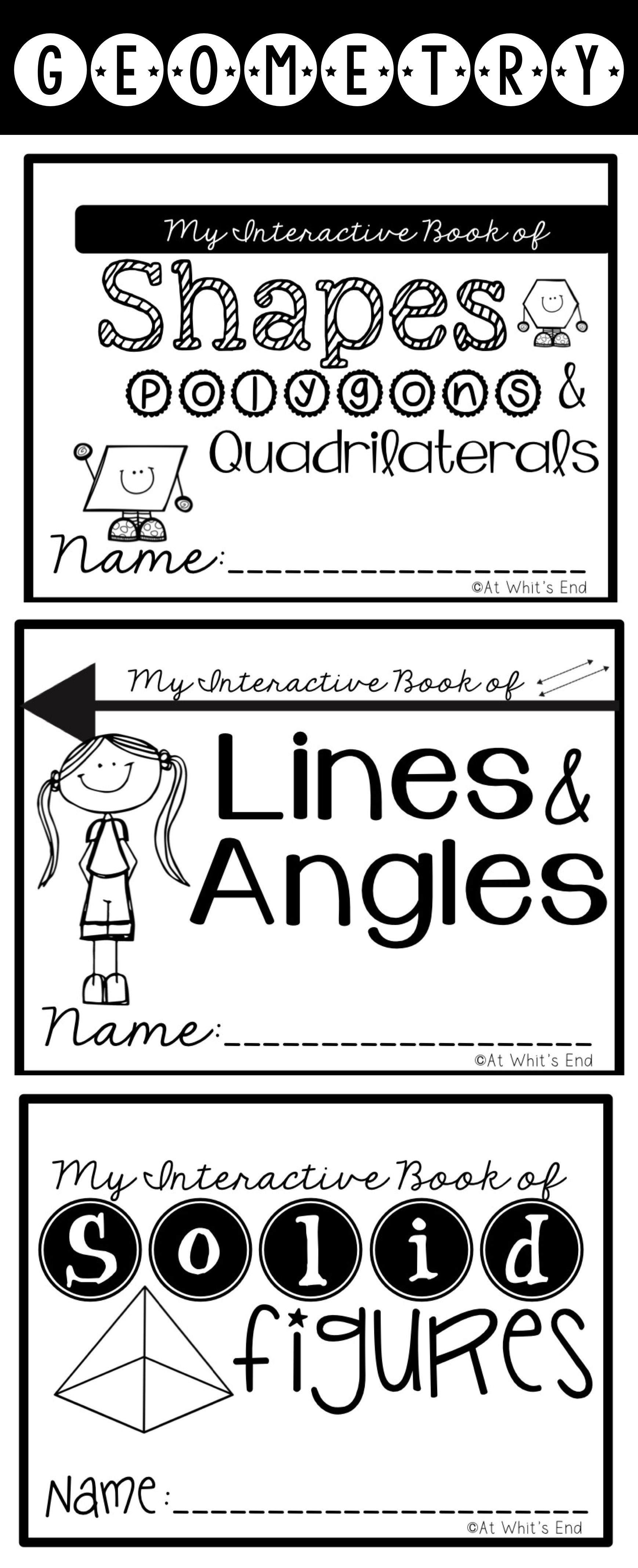 Geometry Bundle Lines Angels Polygons Quadrilaterals