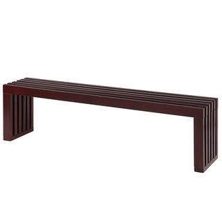 Espresso Finish 60 Inch Slat Bench Overstockcom Furniture