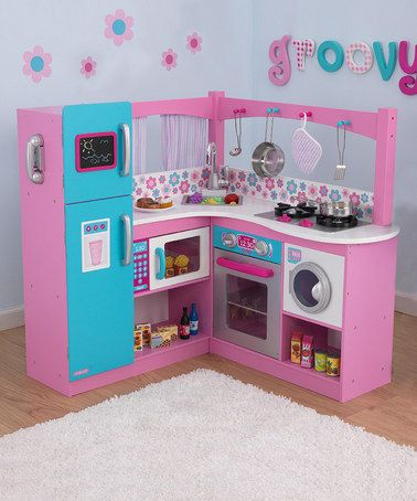 Take A Look At This Groovy Kitchen Set By Let S Play Pretend Boutique On Zulily Today Kids Play Kitchen Kitchen Sets Play Kitchen
