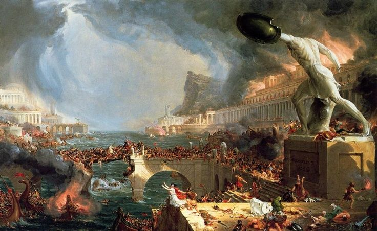 Cuadro de la caída de Roma