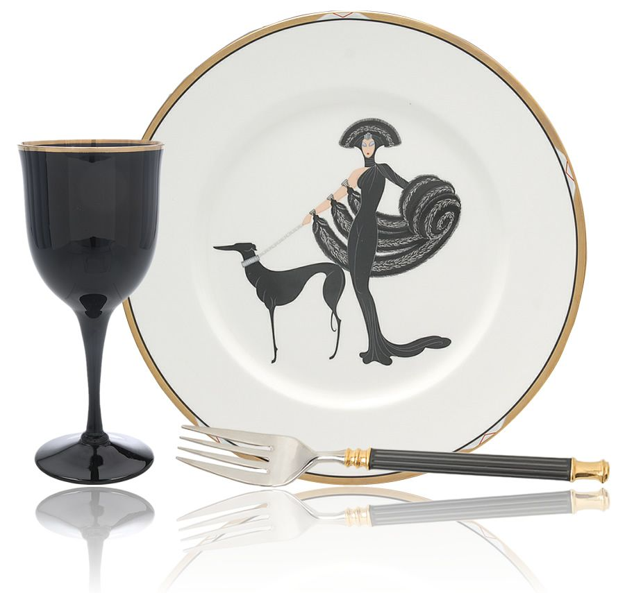 Produced by Mikasa Erteu0027 Plates is a beautiful series of collectible bone china decorated with Art Deco designs by Erte. This featured plate is titled u201c ...  sc 1 st  Pinterest & Produced by Mikasa Erteu0027 Plates is a beautiful series of ...