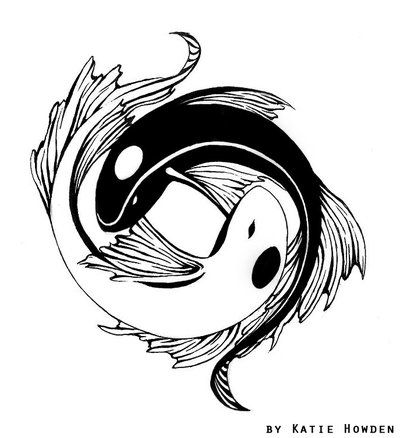 Pics Of Feminine Yin Yang Tattoos Yin Yang Koi Tattoo Design By Ash Night K On Deviantart Tatoo Tatuagem De Peixe Tatuagens Tribais