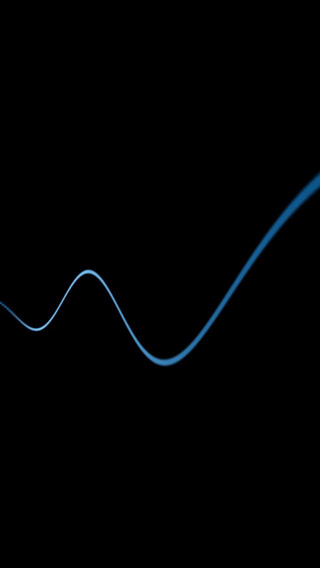 iPhone 5 Wallpaper Simple black sinusoid