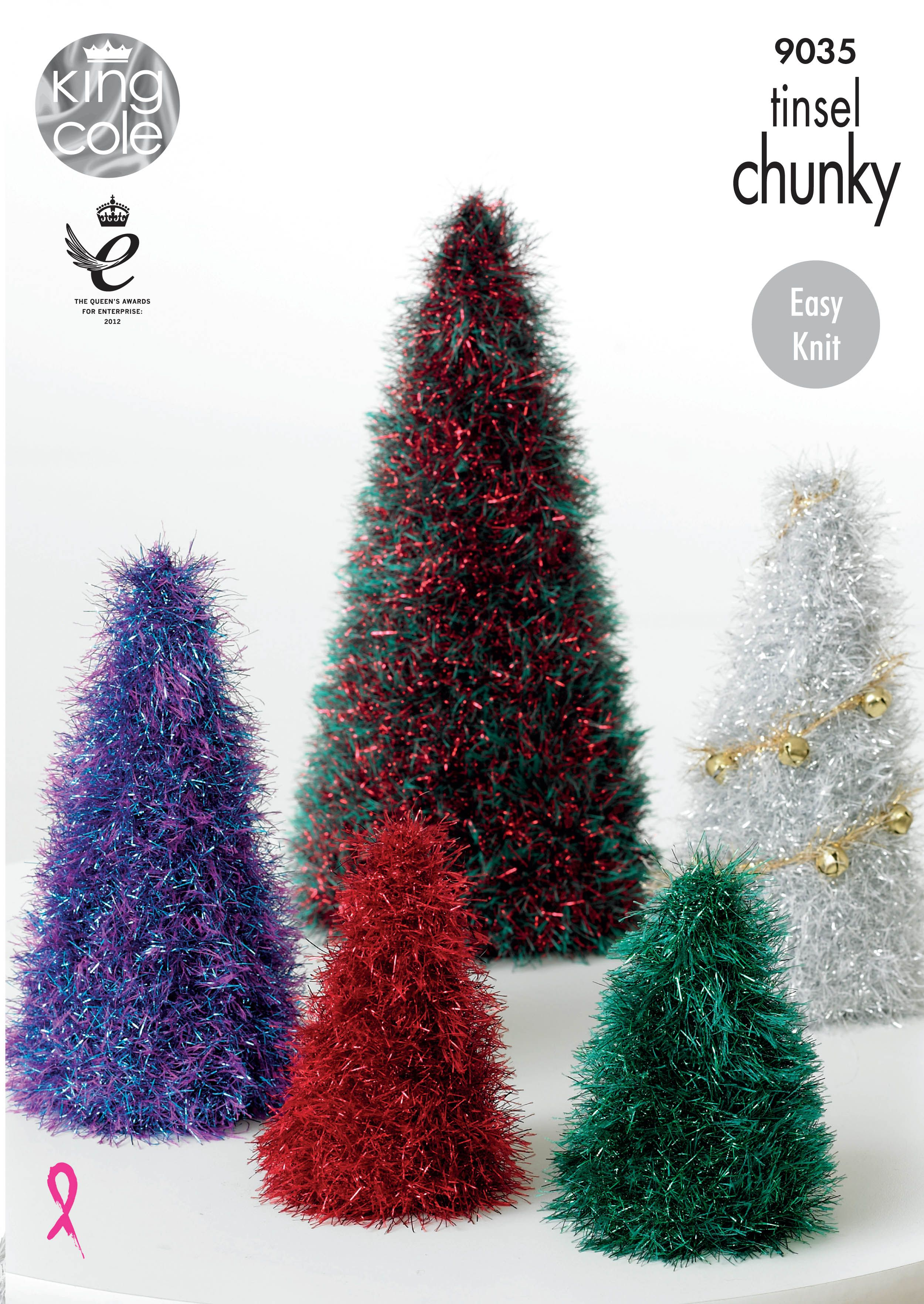 Knitted Christmas Trees Tinsel Christmas Trees King Cole
