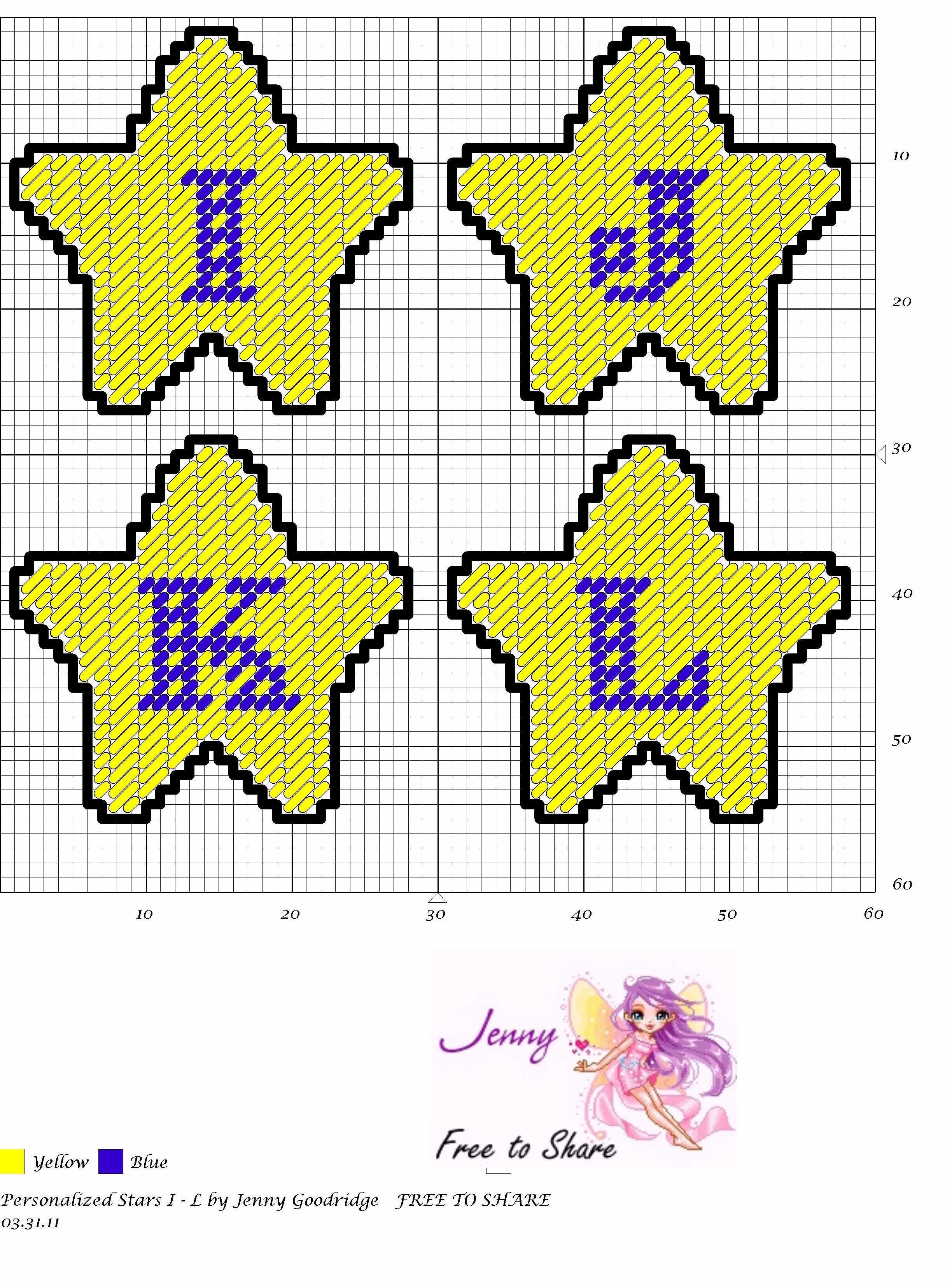 Personalized Stars I-L | sports | Pinterest | Plastic canvas, Star ...