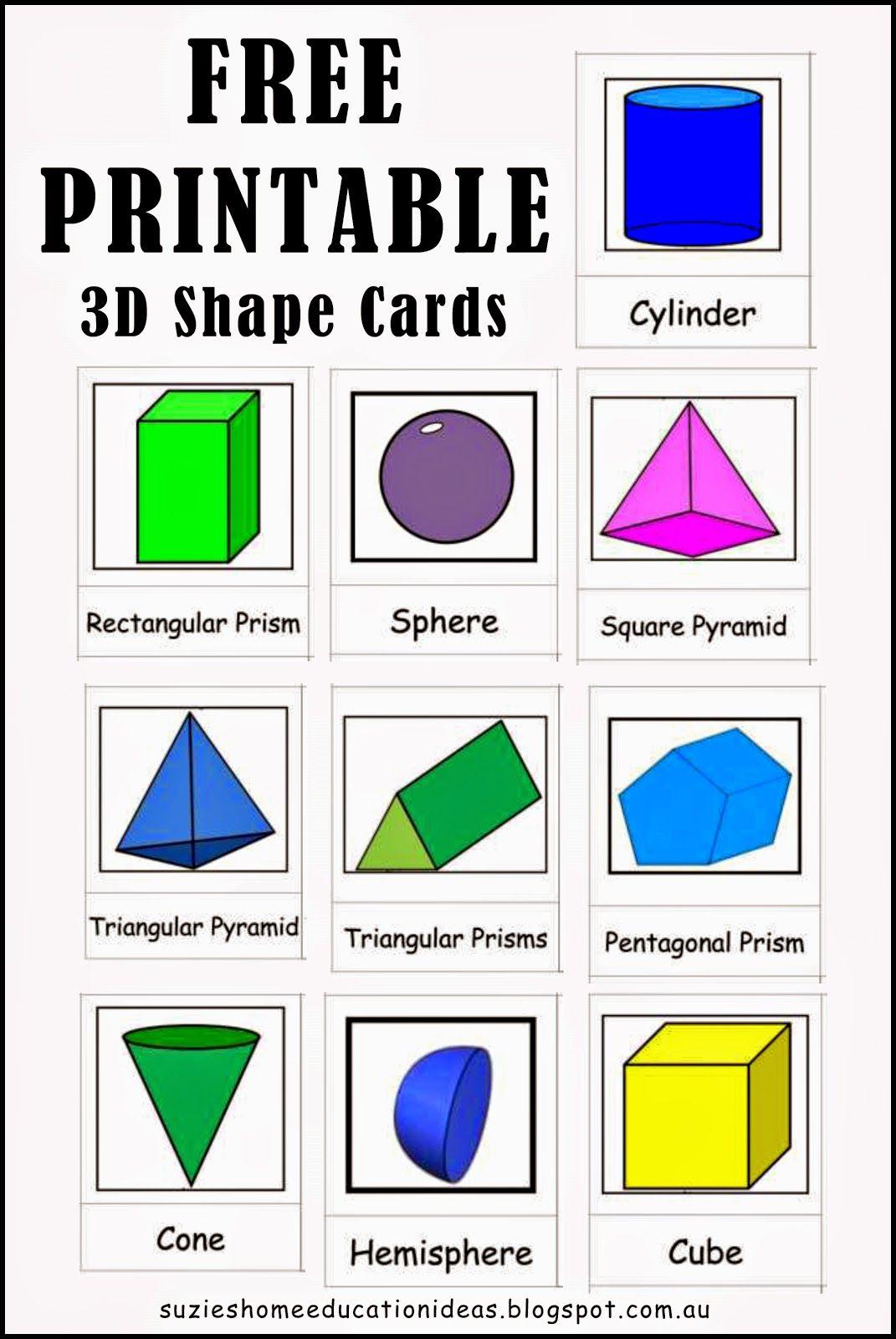 medium resolution of Suzie's Home Education Ideas: Exploring 3D Shapes   Shapes worksheet  kindergarten