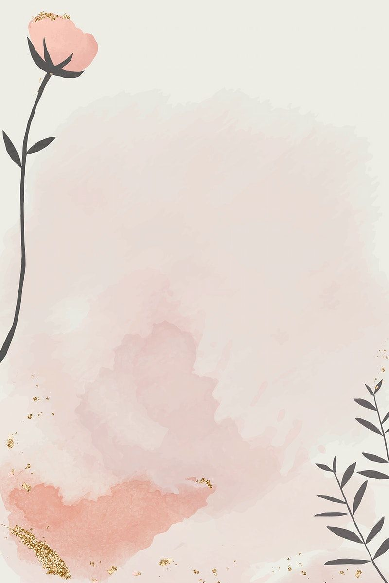Download premium vector of Watercolor paper with floral design vector by marinemynt about pink, shine light, floral backgrounds, pink background, and wallpaper pink 1201231