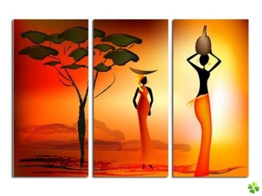 femmes africaines art ou pas pinterest femmes africaines tableau triptyque et triptyque. Black Bedroom Furniture Sets. Home Design Ideas