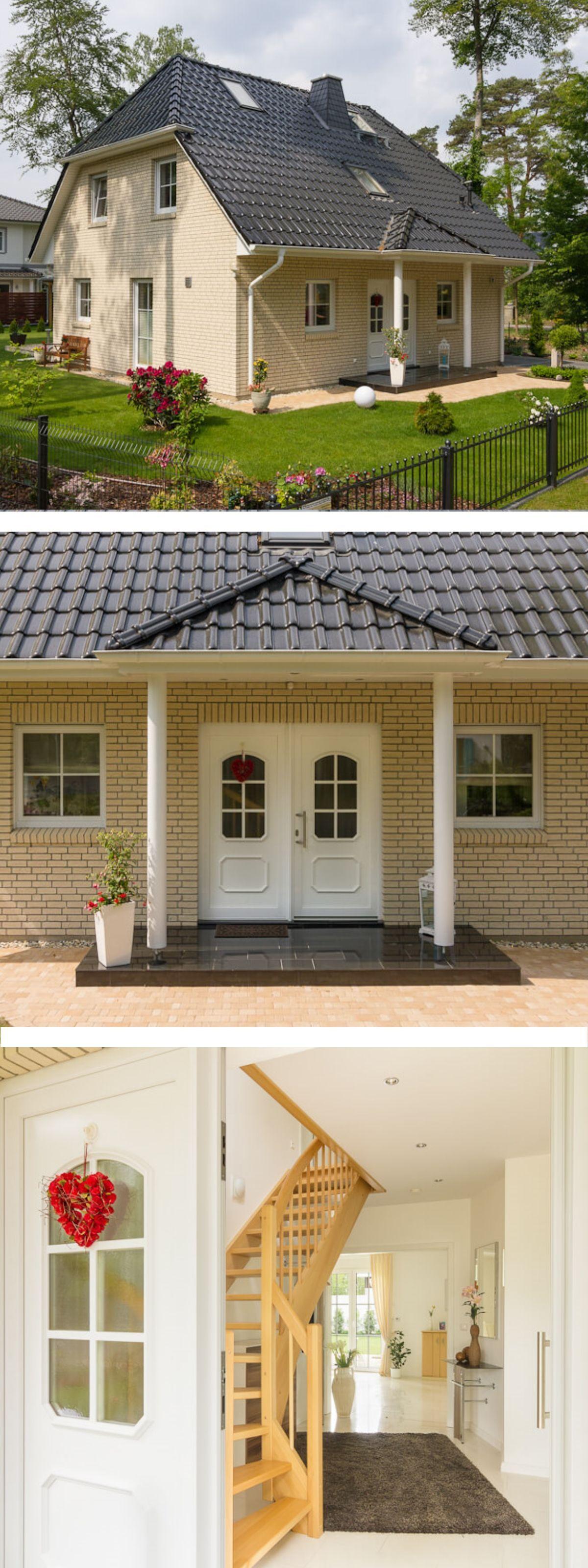 Unglaublich Hauseingang überdacht Galerie Von Im Stil Mit Klinker Fassade, Krüppelwalmdach &