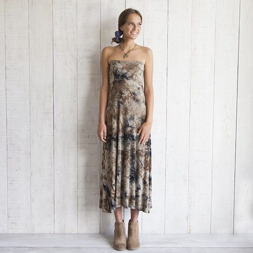 we LOVE wearing this tie dye skirt as a dress!